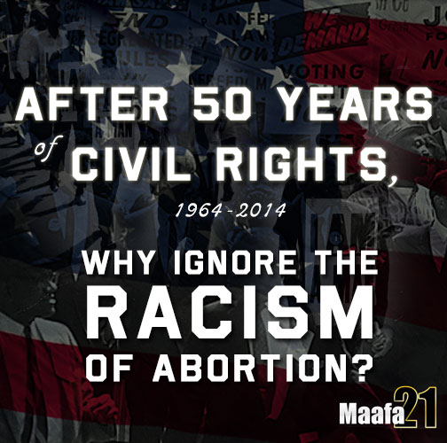 Abortion is racist tool of black genocide against civil rights