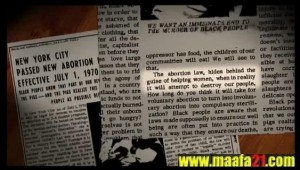 Black Panthers opposed abortion and Black Genocide documented in Maafa21