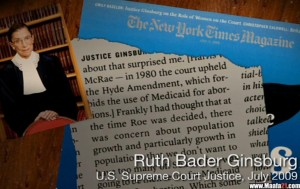 SCOTUS judge Ruth Bader Ginsberg abortion Maafa21