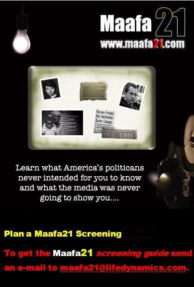 Maafa21 Black Genocide Film SCreening Americas Politicians