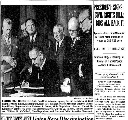 Celebrating the Civil Rights Act of 1964